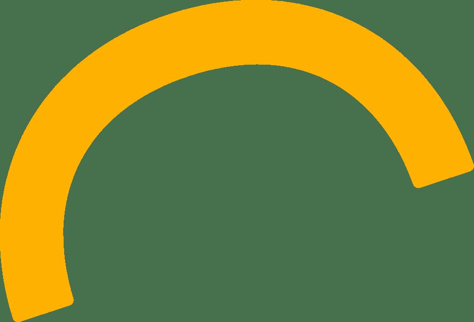 yellow half circle